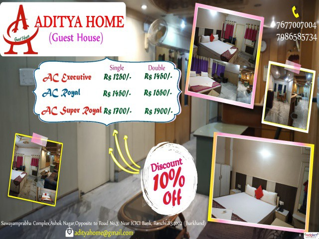 Homely food & facilities Hotel in  Ranchi