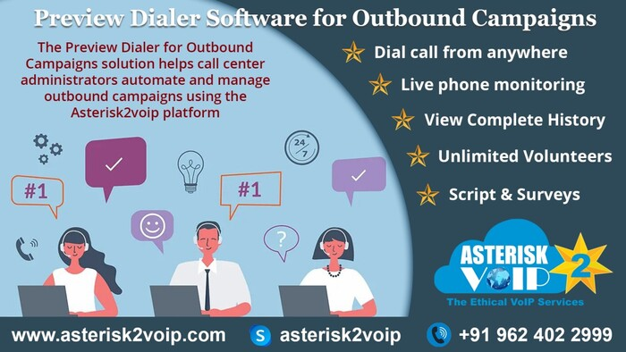 PreviewDialerSoftware for OutboundCampaign-Asterisk2voipTech