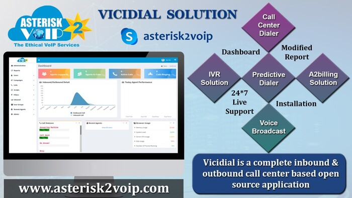 Best Vicidial Solution Servicess by Asterisk2voipTech