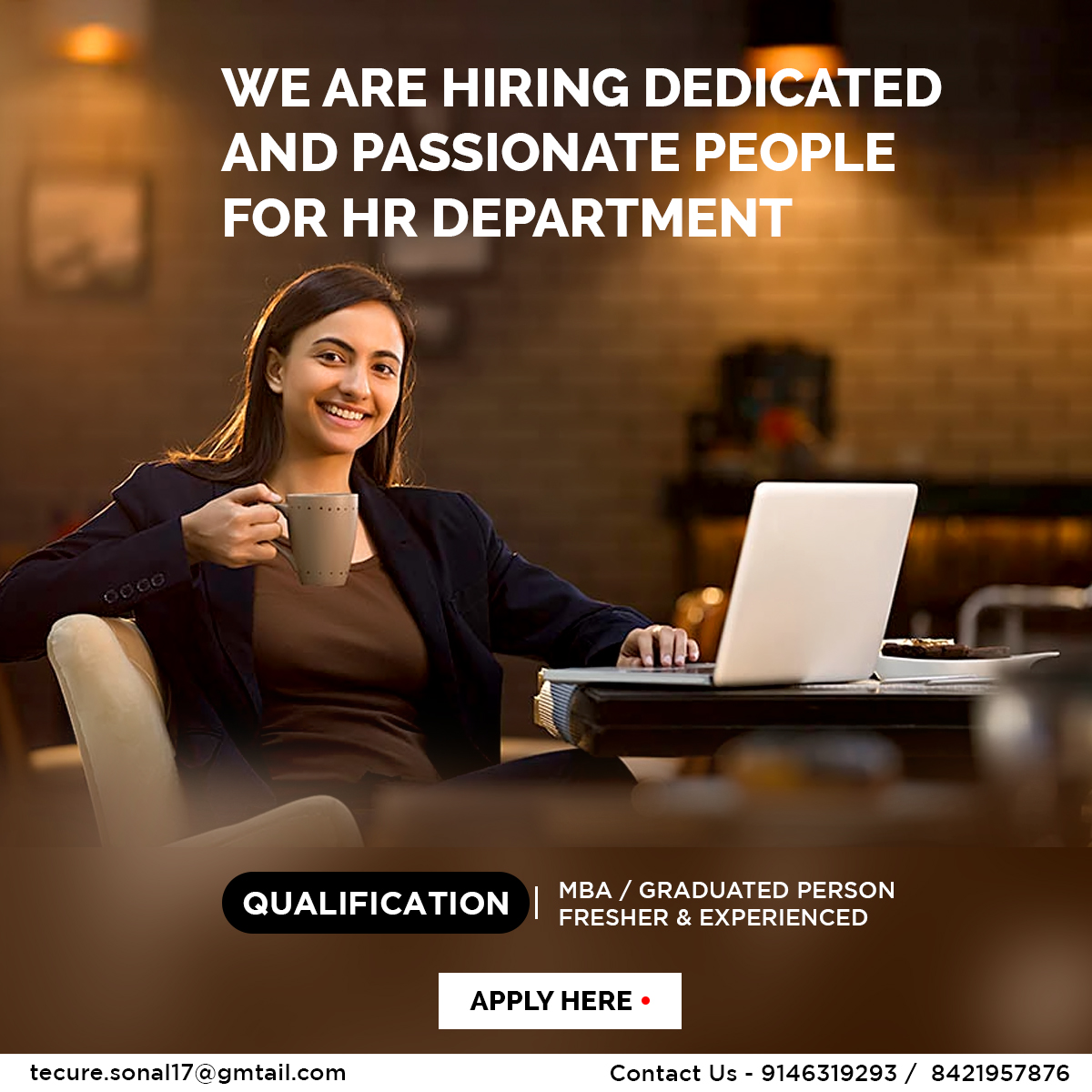Looking for people for HR Department