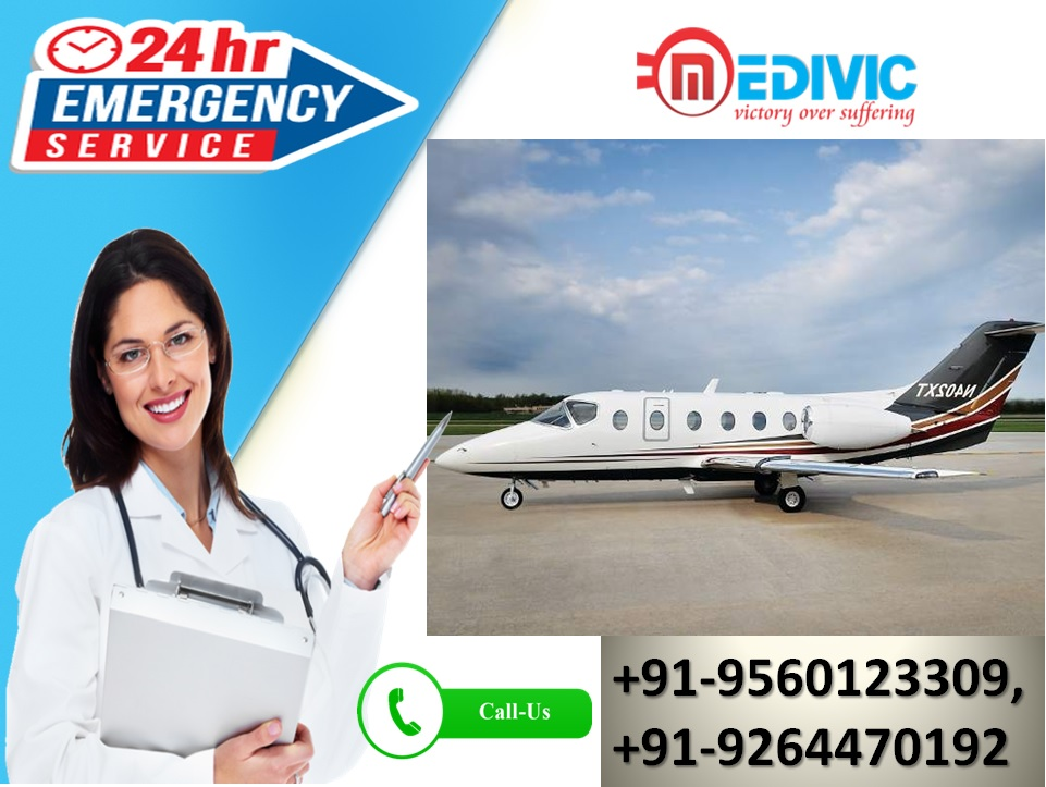 Superb ICU Care by Medivic Air Ambulance Services in Raipur