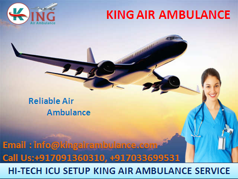Choose First-Class Air Ambulance in Ranchi by King Ambulance