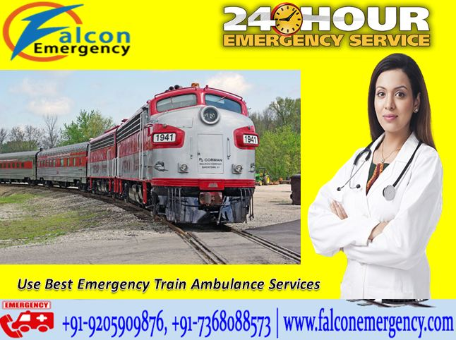 Get Safest Falcon Train Ambulance from Ranchi to Delhi Cost