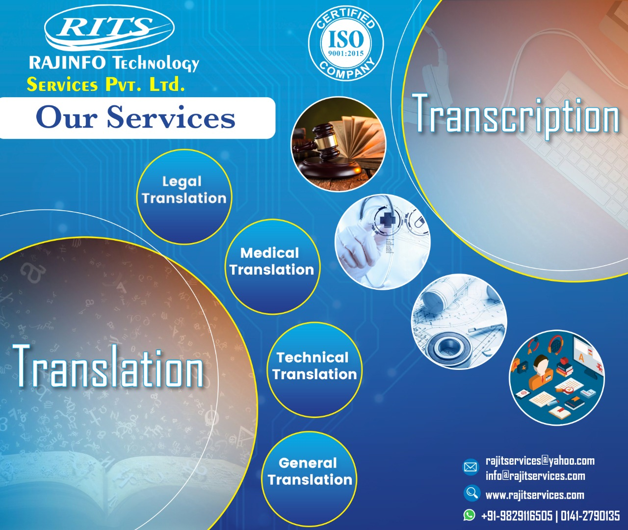 ISO Certified Transcription Service Company in India